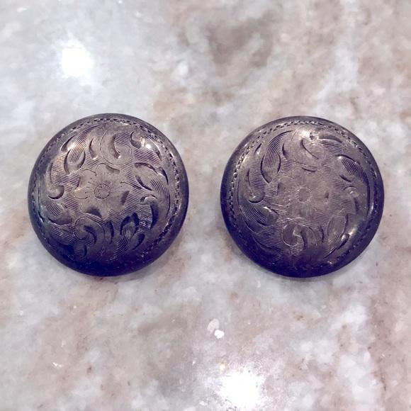 Vintage Sterling Clip-on earrings